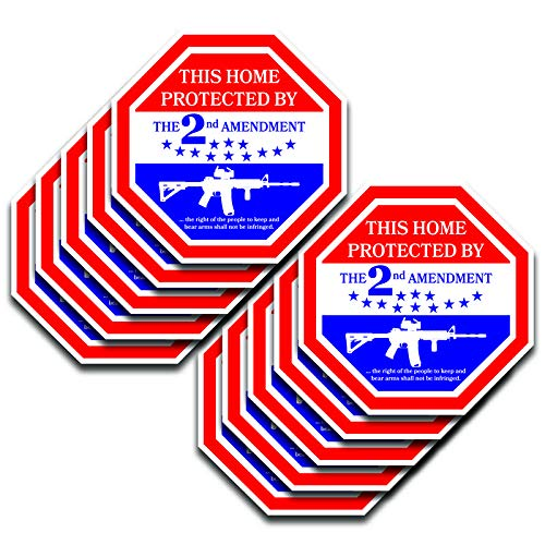 DHDM Home Protected by 2nd Amendment Molon Labe 3 Percenter Gadsden Flag Sticker 10-Pack 5.5 Inches x 5.5 Inches Premium Quality Vinyl UV Protective Laminate PD1996
