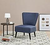 ARTDECO Sillón estilo vintage, color azul