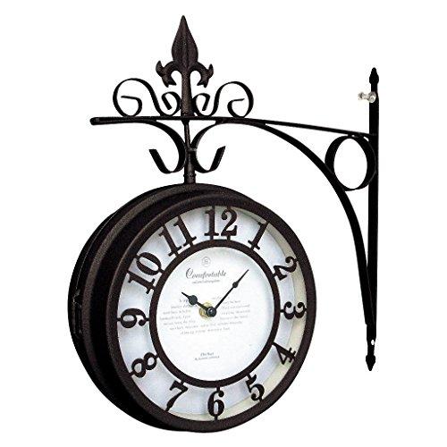 SPICE OF LIFE(スパイス) 壁掛け両面時計 OLD STREET ブラウン Lサイズ 直径30cm NHE801LBR
