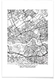 JUNIQE® Stadtpläne Rotterdam Poster 30x45cm - Design