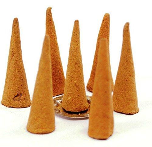buycrafty conos de incienso con aroma a sándalo–90g-40+ cono largo tiempo de combustión,...