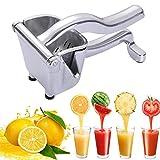 Exprimidores manuales,Exprimidor de Frutas de Heavy Duty Aluminium,Alta Calidad Juicer de fruta,Exprimidor Manual de Cítricos, Extractor de Exprimidor de Frutas Para Naranjas/Sandía/Limón/Manzana