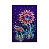 Cool Trippy Paintings Art Oil Painting Poster Decorative Painting Canvas Wall Art Living Room Posters Bedroom Painting 08x12inch(20x30cm)
