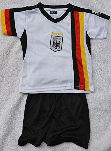 WM 2014 Deutschland Kinder Trikot MIT Hose 4 Sterne GR 122/128