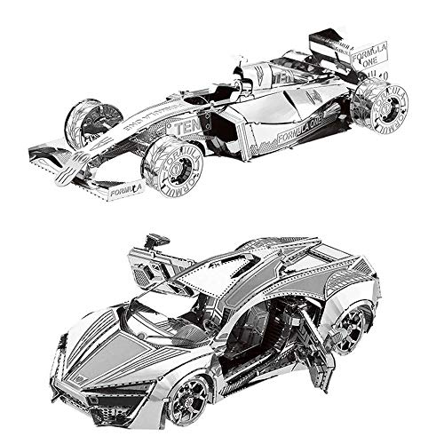 MOTU 2pcs 3D Metal Puzzle Hyper Sport Vehicle + Formula car F101 Model Kits DIY 3D Laser Cut Jigsaw Toys I31126 I21120