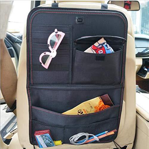 Baceyong - Mochila para asiento de coche con soporte para iPad para tablet de almacenamiento plegable y múltiples bolsillos de viaje