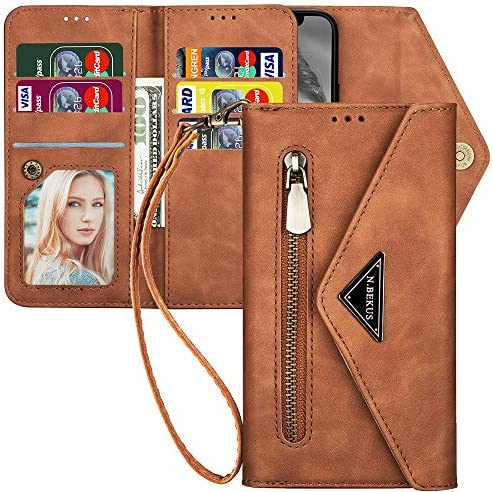 iPhone 6S Plus Wallet Case with Strap for Women Wallet iPhone 6 Plus Case with Card Holder Kudex product image