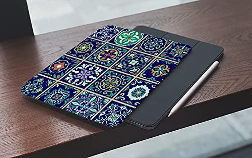MEMETARO Funda para iPad (9,7 Pulgadas 2018/2017 Modelo), Conjunto de Azulejos portugueses, Azulejos, Talavera, Adornos marroquíes Smart Leather Stand Cover with Auto Wake/Sleep