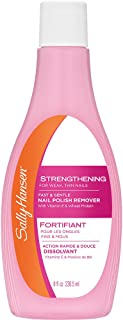 Sally Hansen Nail Polish Remover, Strengthening - 8 oz