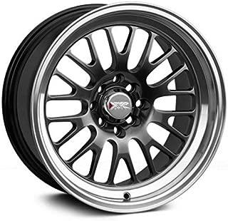XXR Wheels 531 Chromium Black Wheel with Machined Finish Lip (16 x 8. inches /4 x 100 mm, 20 mm Offset)