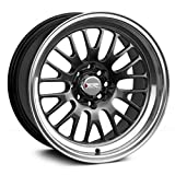 XXR Wheels 531 Chromium Black Wheel with Machined Finish Lip (15 x 8. inches /4 x 100 mm, 0 mm Offset)