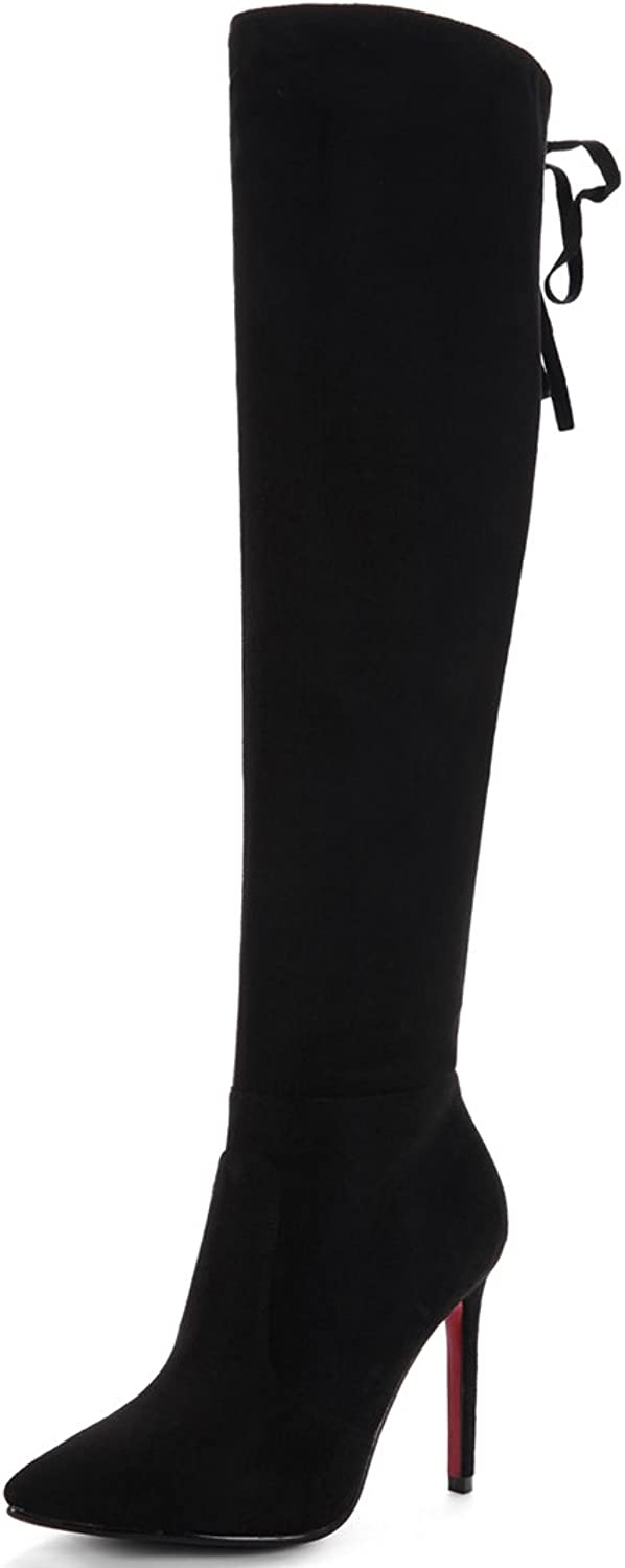 SaraIris Zipper Thin Heels Stretchable Over-The-Knee high Boots for Women