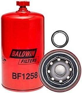 Baldwin Filters BF1258 Heavy Duty Fuel Filter (7-7/16 x 3-11/16 x 7-7/16 In), Red