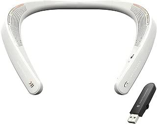 MY THEATER Sound Companion 可穿戴扬声器 - 使用 USB 蓝牙发射器连接到任何设备(PS4、开关、PC、手机等)EM-W100UWH 均码