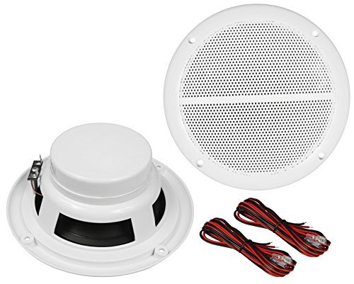 Hollywood WL-18 - Altavoces para Exteriores (179 mm de diámetro, 100 W), Color Blanco