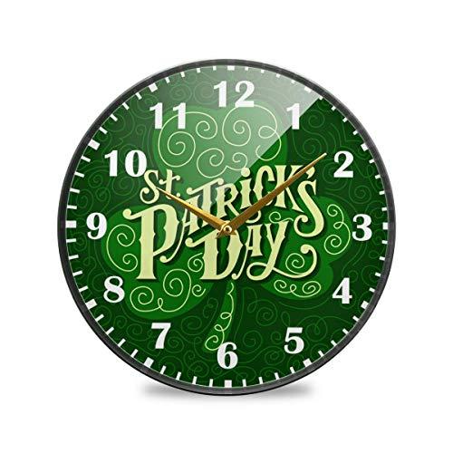 Jacque Dusk Reloj de Pared Moderno,Feliz día de San Patrici