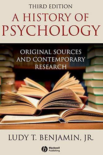 Benjamin History of Psychology 3e