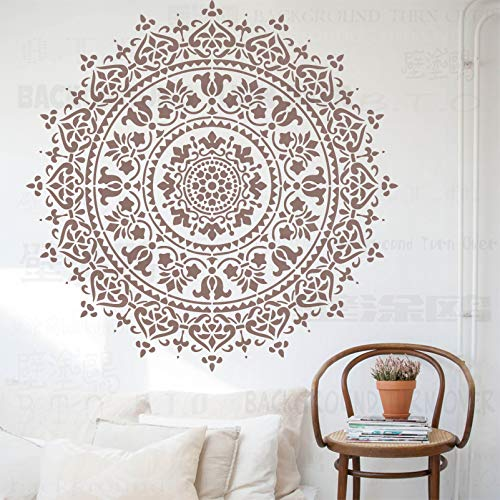 100cm Mandala Indian Arabic Ethnic Round Schablone Schablonen Für Wände Große Farbe Große Vorlage Wiederverwendbare Mandala Bodenbelag Vorlagen Malerei Dekoration Rahmen Fliesen Holz Mandalas Muster