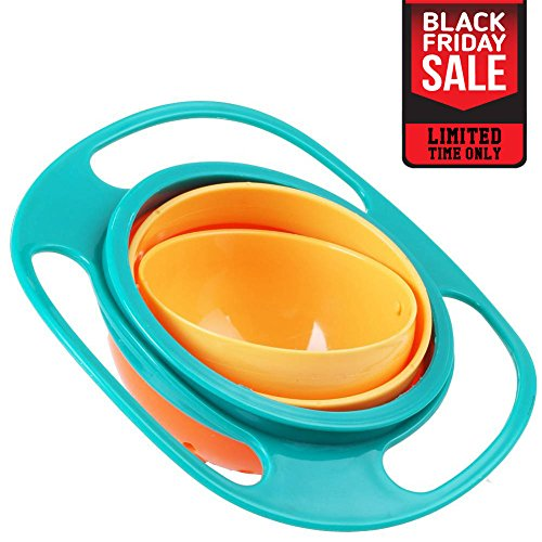 Pro Universal Gyro Bowl | Revolutionary Spill Proof Gyroscopic Bowl For Kids | Smooth 360 Degrees Rotation With Highly Durable Material | For Children Of All Ages | 1097