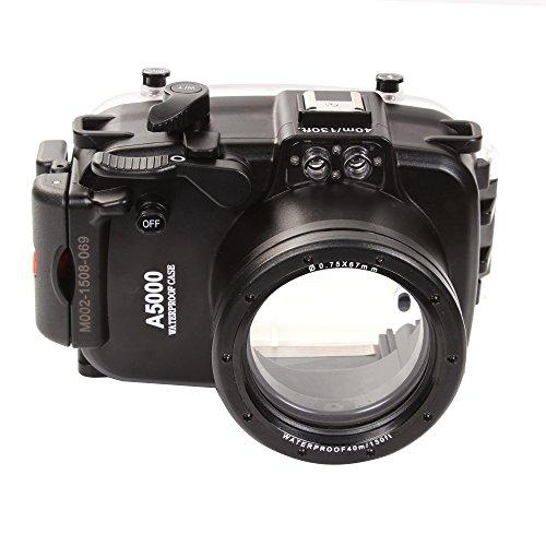 Fotga 40M / 130f waterdichte behuizing Took Hard Case Cover voor Sony A5000 16-50mm lens