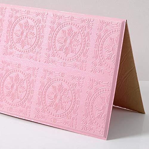 3D Wandaufkleber aus Backstein, selbstklebende Tapete, DIY abnehmbare mehrfarbige Tapete, schalldämmende selbstklebende Tapete, 60 * 60CM (10 Stück) (Color : C)