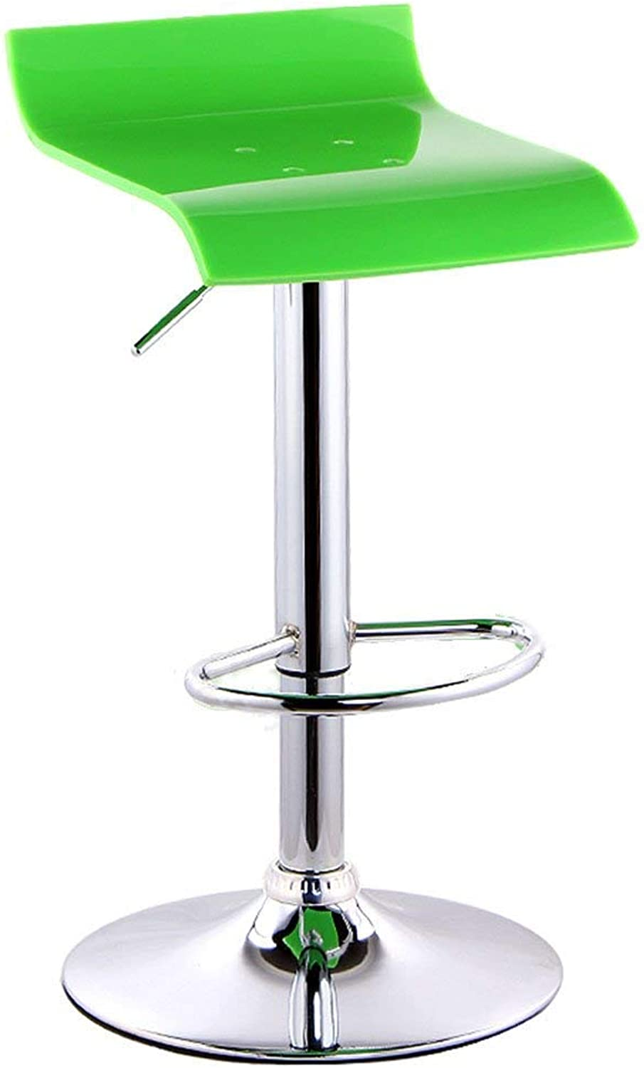 XQY Seat Chair-Bar Chair Square Acrylic Chair Surface Bar Chair Simple Lift Bar Chair Bar Household High Stool Reception Chair Base 38.5Cm -Sponge + Leatherette Solid Wood Chair Surface