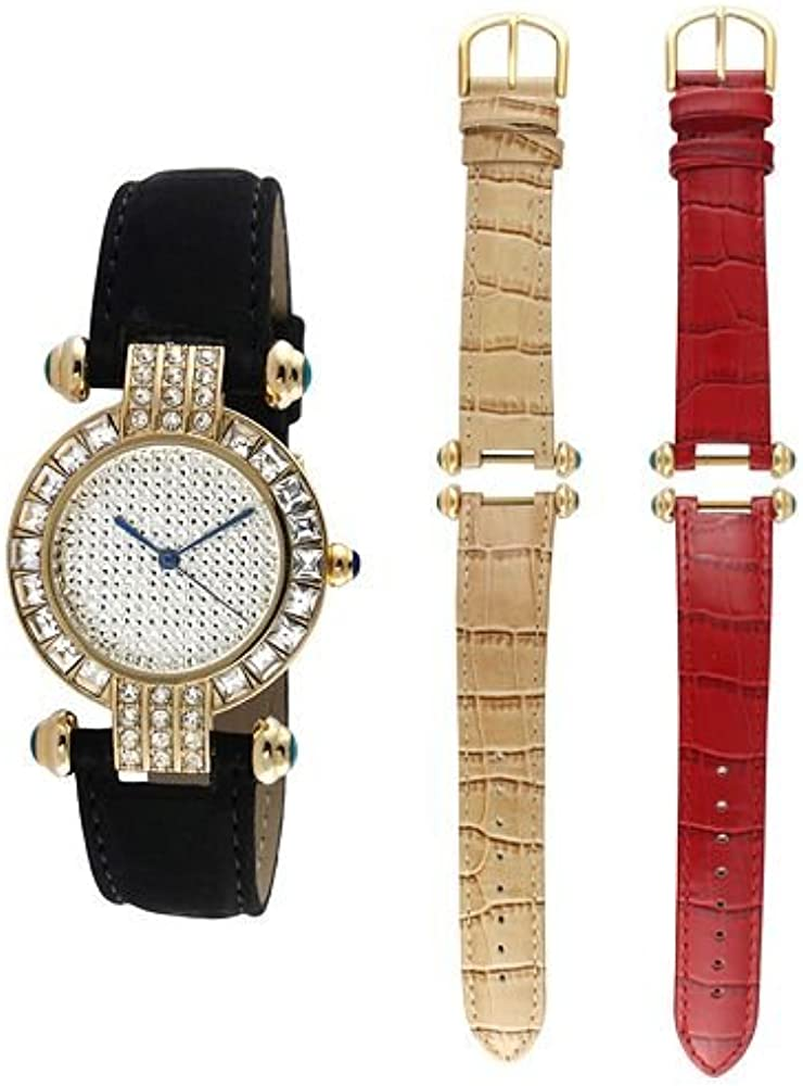 Peugeot,orologio da donna,con lunetta in cristallo,cinturino intercambiabile,set regalo con cinturino in pelle 3140G