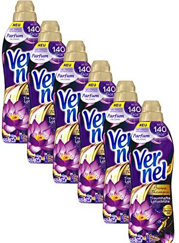 Vernel Aromatherapie Traumhafte Lotusblüte, Weichspüler, für einen langanhaltenden Duft und traumhaft weiche Wäsche (204(6x34) Waschladungen)