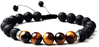 Lava Rock Anxiety Bracelet Essential Oil Diffuser Aromatherapy Relief Healing Bracelets for Men