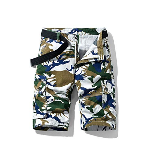 FORUU 2020 New Mens Camo Cargo Shorts,New Summer Shorts Plus Size Comouflage Cotton Multi-Pocket Overalls Shorts Fashion Pants Big and Tall Stretch Shorts Best Mens Casual Shorts Sale