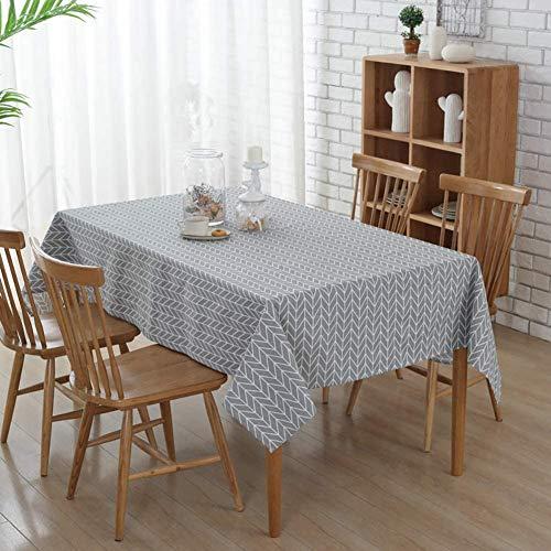 JOTOM Mantel Rectangular a Prueba de Polvo para Mesa de Cocina para Restaurante, Fiesta, 137 x 200 cm (Flecha Gris)