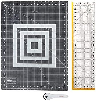 Fiskars Crafts 952301010 Rotary Sewing Cutting Set  3 Piece  Grey