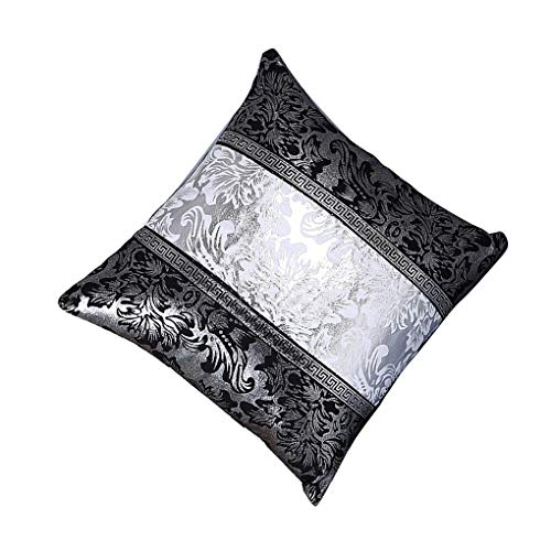 Wanzhaofeng Diseño Floral Funda de Almohada del sofá Banda Cubierta de Almohada Pillowslip de Contraste de Color Almohada Decoración