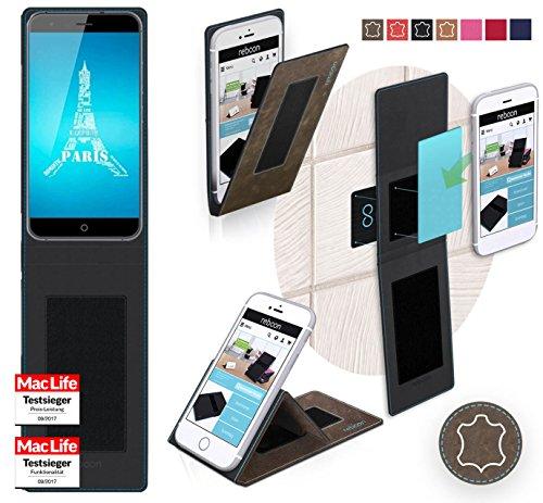 Hülle für Ulefone Paris X Tasche Cover Hülle Bumper | Braun Wildleder | Testsieger