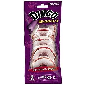 Dingo Ringo-O-O Rawhide Treat For All Dogs, 5-Count