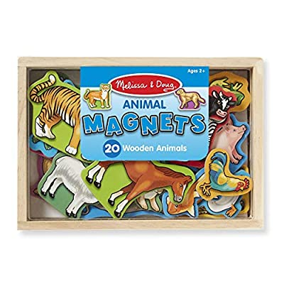 Melissa & Doug 20 Wooden Animal Magnets in a Box from Melissa & Doug