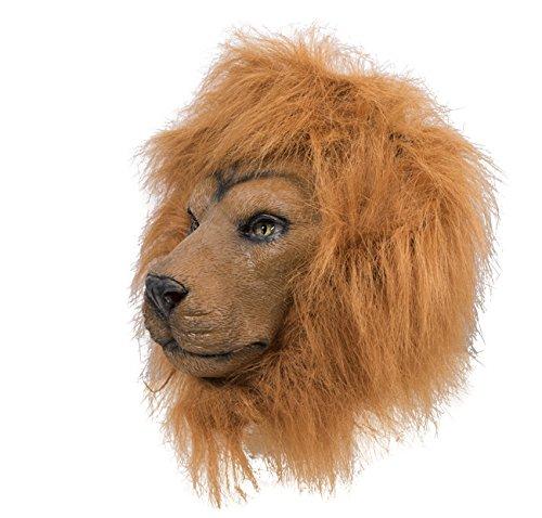 P 'tit Clown 41132 masker volwassenen latex helm leeuw, eenheidsmaat
