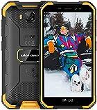 Ulefone Armor X6 2021 Smartphone Sbloccati, IP68 / IP69K impermeabile, 2 GB + 16 GB, Fotocamera Principale da 8 MP, Fotocamera frontale da 5 MP, Android 9.0, 5,0 pollici, 4000 mAh - Arancio
