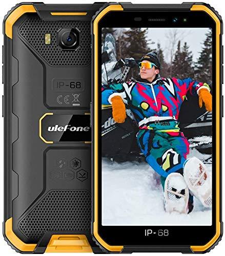 Ulefone Armor X6 2020 Smartphone Sbloccati, IP68   IP69K impermeabile, 2 GB + 16 GB, Fotocamera Principale da 8 MP, Fotocamera frontale da 5 MP, Android 9.0, 5,0 pollici, 4000 mAh - Arancio