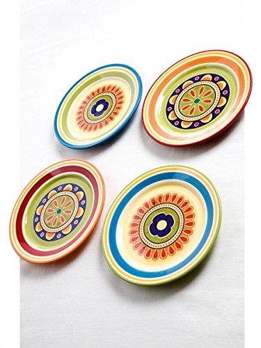 Brandani 57150 - Juego de 4 platos de fruta (piedra de hierro), multicolor