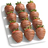 Orders received Mondays-Thursdays before 8:00 am PST/11:00 am EST will arrive next day. One dozen large fresh strawberries dipped in pure real milk chocolate with exceptional quality and flavor. Freshness and premium quality are 100% guaranteed. Each...