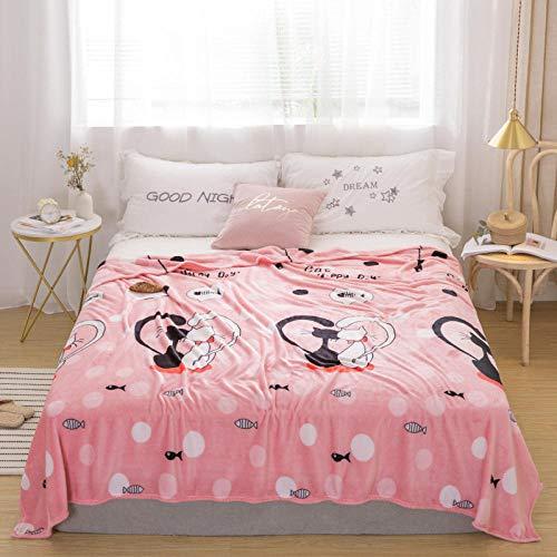 PengMu zachte en warme deken voor katten, milieuvriendelijk, zacht, flanel, roze, draagbaar, geen oplosmiddel.