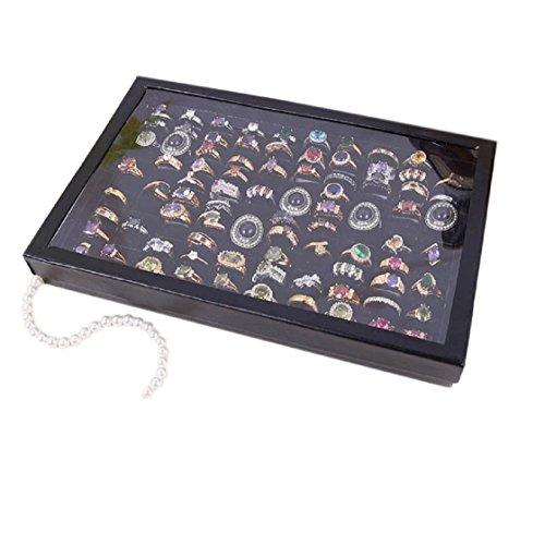 Vovotrade® Sieraden Ringen Sieradenhouder houder Velvet 100 sleuven doos sieraden opbergdoos