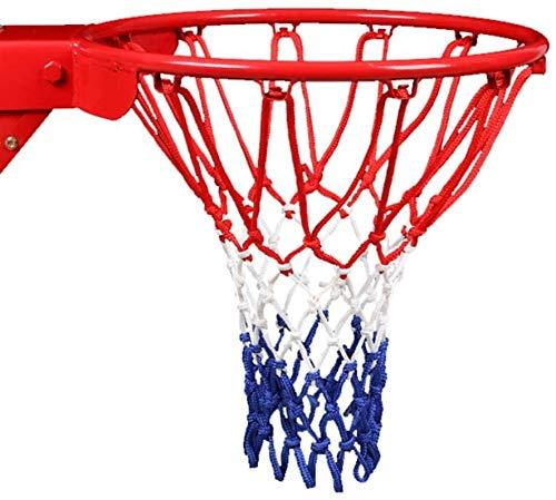 LATERN 2X Profi Basketball Netz Set Nylon Basketball Ersatz Netz Dauerhaft und jedes Wetter Ballnetz Für Standard Größe BasketballKorb 12 Loch Ersatznetz für Outdoor Sports Basketball Training