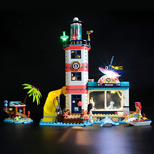 BRIKSMAX Led Lighting Kit for Lighthouse Rescue Centre - Compatible with Lego 41380 Building Blocks Model- Not Include The Lego Set