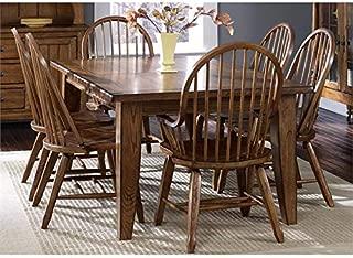 Liberty Furniture Treasures 7 Piece Dining Set in Rustic Oak