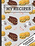 My Recipes: Burgers & Ribs: Blank Empty Recipe Cookbook... Great Cooking Birthday Gift for Men,...