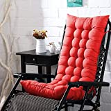 AMZ Microfibre Soft Home Cotton Cushion Long Chair Pad Cushion for Indoor/Outdoor Dining Home Garden Decor (Red,48 x 16 inches,Set of 1)