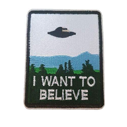 I Want to Believe UFO Einer Bestickt Eisen auf Patch