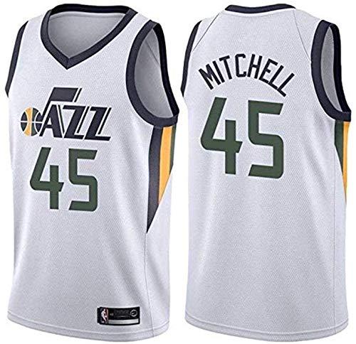 Li Lang NBA Jersey, Donovan Mitchell-Utah Jazz # 45, Basketball Jersey Vest, gestickte Swingman, Sportbekleidung (Color : 3, Size : S)